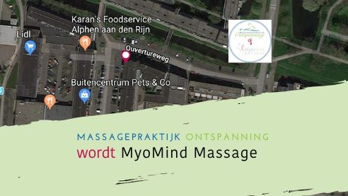 Nieuwe bedrijfsnaam: Massagepraktijk Ontspanning wordt MyoMind Massage