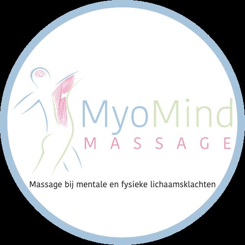 Logo MyoMind Massage - cirkel blauw